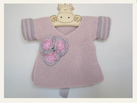 """Brassière naissance bébé fille """"Porcelaine"""""""