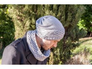 Bonnet Homme tricoté main - Treille-