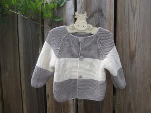 Oléron-Gilet pour bébé tricoté en coton nat