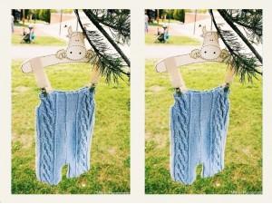 """Salopette tricotée main en coton bio """"Faim d'Été"""""""