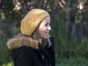 Bulle d'Alpaga béret-écharpe pour femme