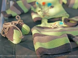 """Converse tricotés main """"Bonjour la Terre"""""""