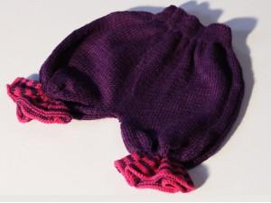 """Bloomer Bermuda tricoté main """"Coeur de Fuchsias"""""""