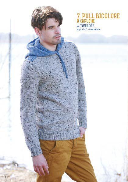 Modèle de pull à capuche pour jeune homme