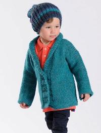 Gilet à tricoter pour petit bonhomme