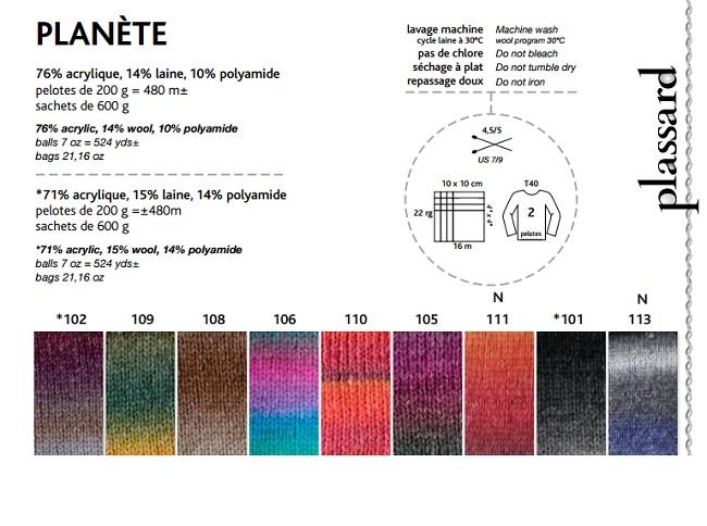 laine à tricoter Planète de Plassard