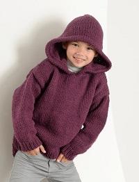 tricoter un sweat à capuche pour garçon