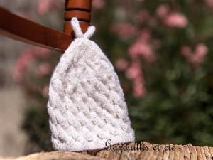 Bonnet de naissance Neige