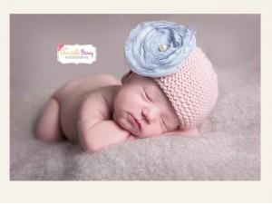 Bonnet Petite Fleur tricoté main