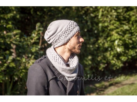Snood Homme tricoté main - Treille-
