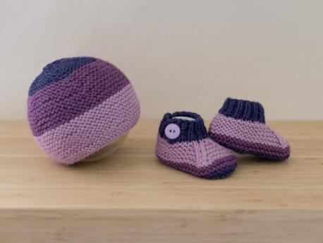 Coffret cadeau de naissance en tricot pour bébé prématuré-Pimprenelle- -