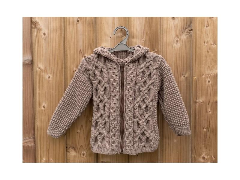 Veste à capuche- Double-je -Collection tricoté pour jumeaux db2aaa29880