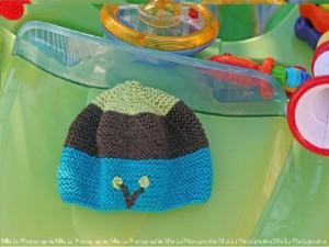 """Bonnet fait main pour nourrisson """"Turquoise"""""""