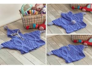 Veste -Poncho en laine pour bébé