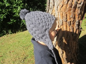 Bonnet péruvien Ardoise pour enfant