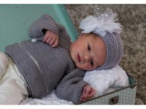 Cache-cœur bébé fille Délicatesse