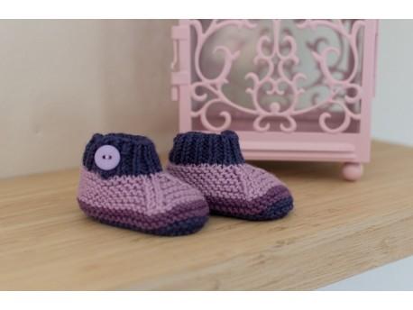 Chaussons en laine pour bébé Pimprenelle