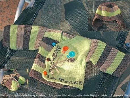L'ensemble en laine pour bébé Bonjour la Terre