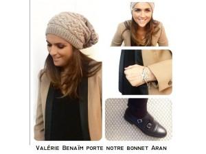 Bonnet tricoté main-Valérie Benaïm