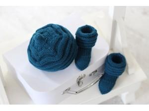 Coffrets cadeaux-de-naissance-en-laine-mérinos-indigo