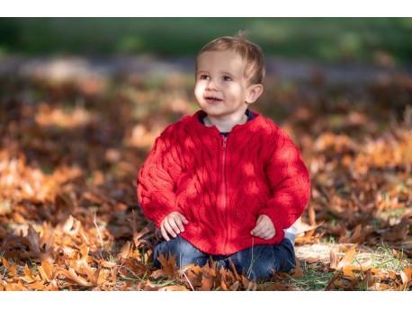 Arabesque gilet bébé tricoté main, hiver 2018/2019