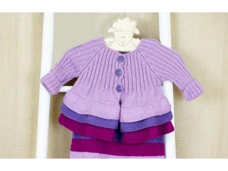 Macaron gilet-robe pour bébé