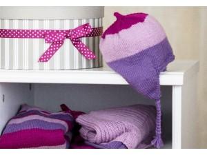 Macaron Bonnet en tricot pour bébé