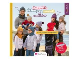 Livre- Bonnets, écharpes, snoods et accessoires, tricot pour toute la famille