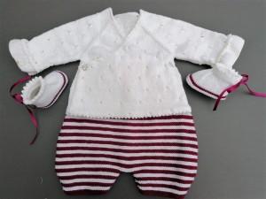 Sarouel tricoté main Coloris Cyprès du Liban