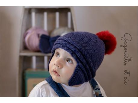 Spirale bonnet et moufles pour bébé en Guéret de Fonty