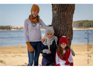 Tagada Bonnet et accessoires mixtes en tricot, pour enfant