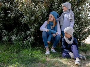 Dessus-dessous Bonnet et accessoires en tricot, pour enfants hiver 2021-2022